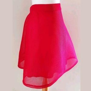 New York & Company Skirts - NEW YORK & CO RED NET CIRCLE SKIRT SZ L